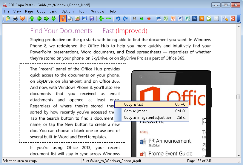 PDF Copy Paste Software for Windows - Cut and paste text and